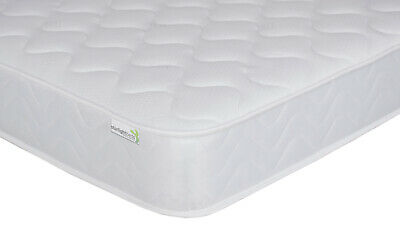 2ft6 Shorty Memory Spring Mattress Quilted Mattress (75cm x 175cm) FREE DELIVERY