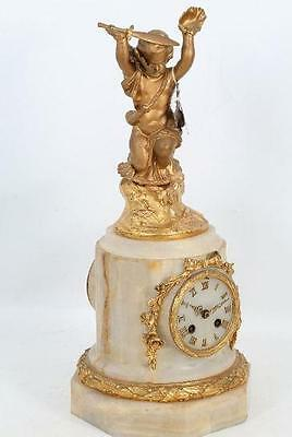 C19th French Japy Freres Ormolu mantle clock (46 cm high)