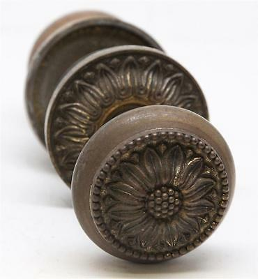 Decorative Floral Door Knob Set with Ornate Rosettes