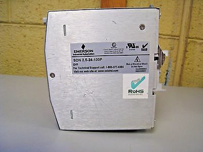 Emerson Sdn2.5-24-100P Sola Power Supply 115/230-Vac 24-Vdc/2.5A