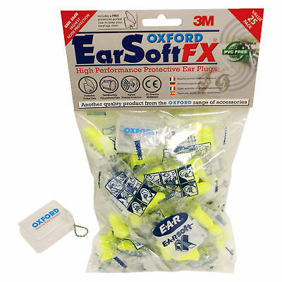 New Oxford Motorcycle Bike Earsoft FX Protective Earplugs 25 Pairs W/ Carry Case