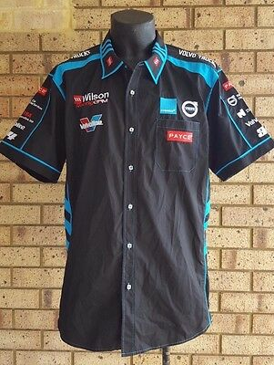 GRM Gary Rogers Wilson Security Racing Motorsports Crew Shirt Black Blue NEW 2XL