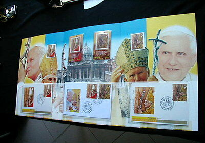 2005 Italy Vatican Pope BENEDETTO XVI official folder stamps card FDC