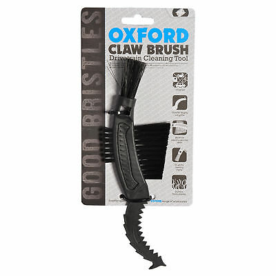 Oxford Motorcycle Bike 3-In-1 Drivetrain Nylon Bristle Claw Cleaning Tool Brush