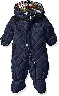 Rothschild Infant Boys Navy Blue Quilted Pram Size 3/6M 6/9M 12M