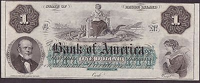 1 ONE DOLLAR FROM BANK OF AMERICA   C Unc