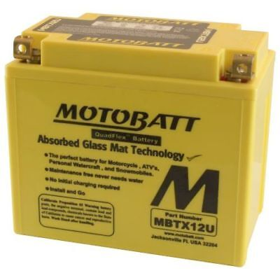 Motobatt Battery For Kymco Xciting 400i 400cc 2009