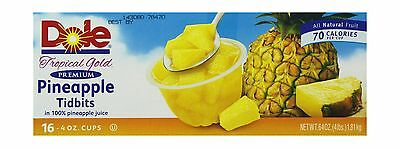 Dole 16/4-Ounce Pineapple Tidbits in 100-Percent Pineapple Juice 16 Count