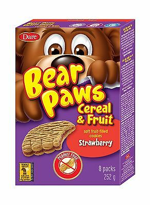 Bear Paws Morning Snack Strawberry Cereal and Fruit (Pack of 12)