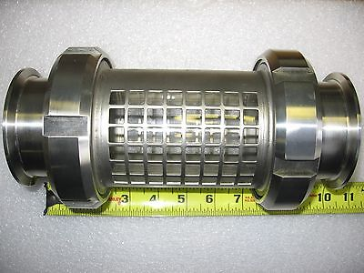 "Alfa-Laval Tri-Clover 3"" 304 Stainless Sanitary Sight Glass Fitting Assembly"