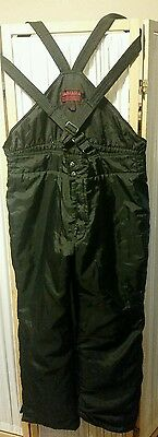VTG YAMAHA  Mens L Snowmobile Bibs Snow Pants Black Winter Overalls Insulated