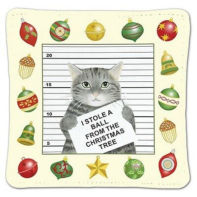 Alice's Cottage Cotton Scented Spiced Mug Mat Coaster Holiday Cat Burglar - NEW