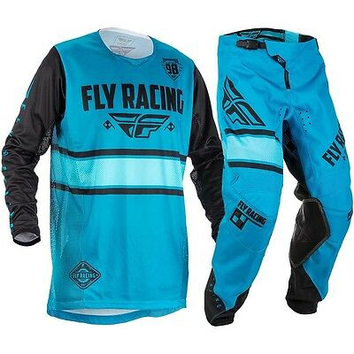 New Fly Racing Adult Mens Kinetic Era Blue Black White Jersey + Pants Combo
