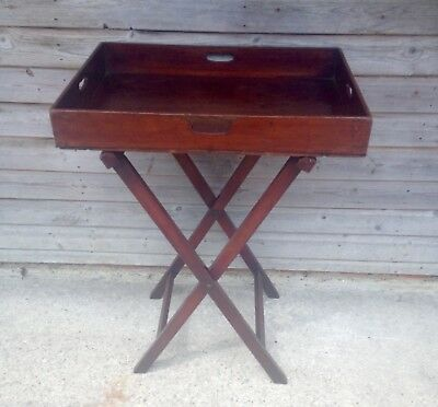 A Large Mahogany 19th Century Butlers Tray on Stand