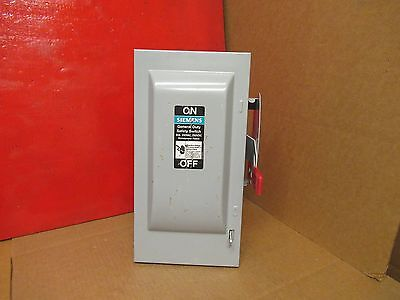 Siemens Fusible Safety Switch Disconnect Gf222N 2 Pole 60A A Amps 240V Volts New