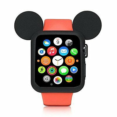 Watch Case 3 2 Apple 38mm Protection Rugged Armor Shockproof Bumper Cover Black