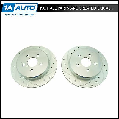 Nakamoto Performance Drilled /& Slotted Rear Zinc Coated Disc Brake Rotor Pair