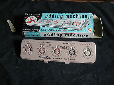 "Vintage Sterling ""add it"" Dial-A-Matic Automatic Adding Machine No. 567 w/o pick"