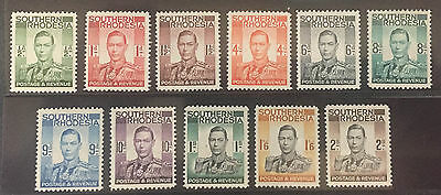Southern Rhodesia 42-52 - Complete Set In Mint Singles Vf,h