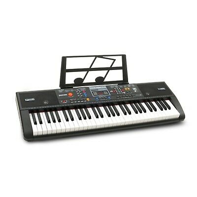 Plixio 61-Key Electric Piano Keyboard with Music Sheet Stand Portable Learners