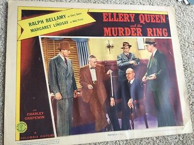Movie Lobby Card 1941 Ellery Queen And The Murder Ring Ralph Bellamy M Lindsay