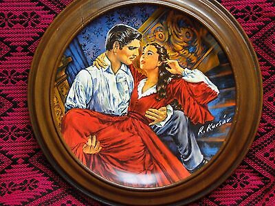 "1986 KNOWLES 10"" Gone With The Wind Plate SCARLETT AND RHETT The Finale COA GWTW"