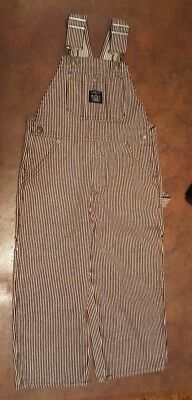 NWT LAKIN & McKEY Overalls kids size 3T brown striped NEW