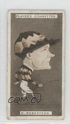 1925 Player's Racing Caricatures Tobacco Base #32 Kenneth Douglas Robertson 1m8