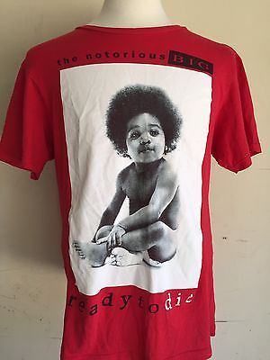 "THE NOTORIOUS BIG Biggie ""Ready To Die"" Officially Licensed Men's T-Shirt Medium"