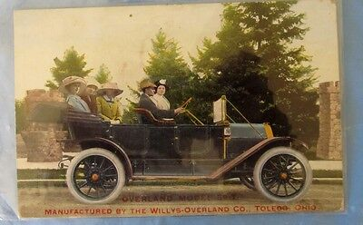 Vintage Teens Overland Model 59-T Advertising Postcard By Willys-Overland