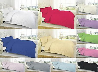 200 / 300 / 500 / 800 Thread Count 100% Egyptian Cotton Duvet Cover Set