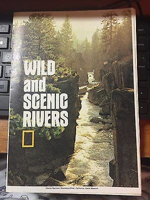 1977 National Geographic Map Of U.s.a. Rivers