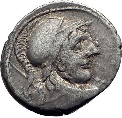 Roman Republic 88BC Rome Authentic Ancient Silver Coin MARS & CHARIOT i63482