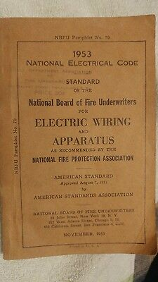 National Electrical Code 1953 Vintage Electric Wiring & Apparatus Nbfu # 70 Sfh