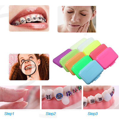 Orthodontic WAX For BRACES Irritation Whiten Dental Relief Easy to Use