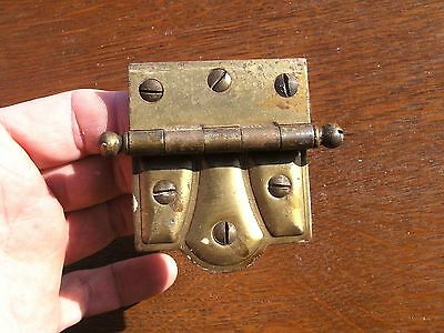 Large Brass Victorian Cabinet Hing STANLEY SW Sweetheart Hinge with Brass Screws