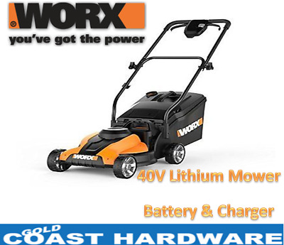 WORX WG776E 40v Li-ion Cordless Lawn Mower - With Lithium Battery & Charger