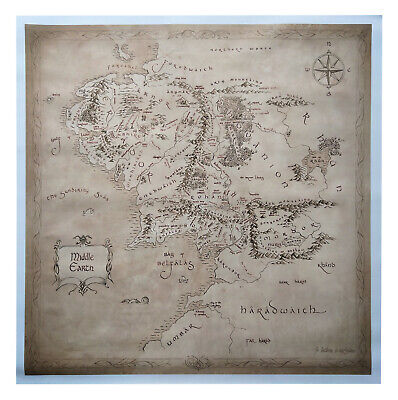 Middle Earth Map by Magnoli Props