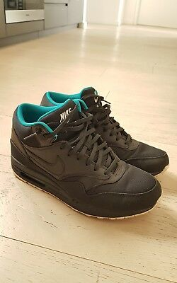 Nike Air Max 1 High tops Black Leather US10