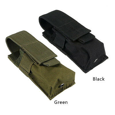 Molle Tactical Single Mag Magazine Pouch Open Top Pistol Cartridge Clip Pouch++