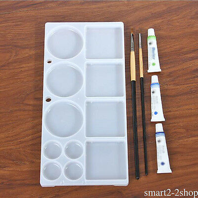 Art Paint PP Plastic Drawing Tray Color Palette For Oil Watercolor Painting tool