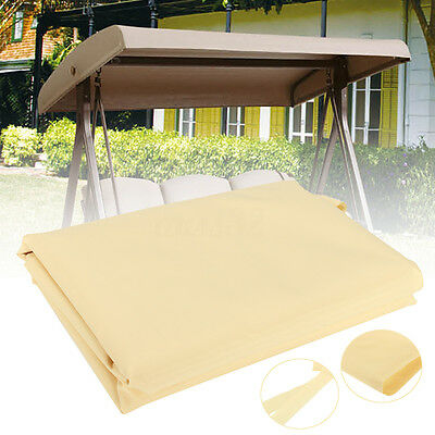 "Outdoor Patio Swing Top Cover Canopy Replacement Porch Outdoor 79"" x 48"" Beige"