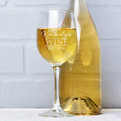 Personalised Engraved 360ml Wine Glass - ideal 18th 21st 40th 50th Birthday Gift
