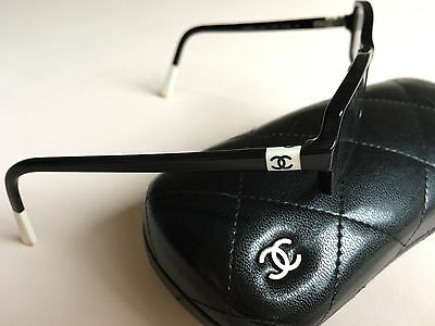 AUTH CHANEL 3157 c.1026 Black/White 51mm Eyeglasses Frames RX W/Case
