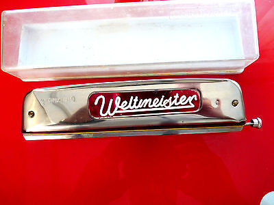 harmonica WELTMEISTER vermona lettre C - Chromatic - Allemagne - vintage