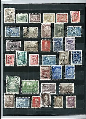 Argentina. 1952-1972. Selection Of 35.. Mint To Fine Used.  As Per Scan