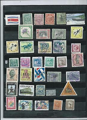 Costa Rica.  Selection Of 35. Fine Used  As Per Scan