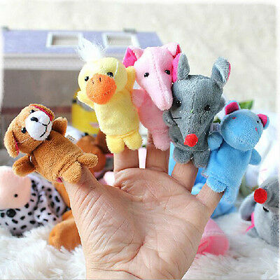 1Pc New Baby Puzzle 10 Double Animal Fingers Hand Puppet Creative Toys for Kids