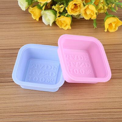 2x Handmade Soap Mold Silicone Mould DIY Tools for Ice Cube Cake Candy Chocolate