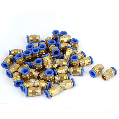 50 Pcs PC8-02 1/4BSP Thread 8mm Straight Push in Joint Pneumatic Quick Connect F